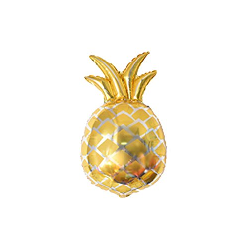 LUOEM 16Inch Rose and Gold Pineapple Balloons Party Decorations Hawaiian Party Foil Balloons ALOHA Metallic Mylar Balloon Decorations Hawaii Luau Party Favors Supplies,Pack of 3