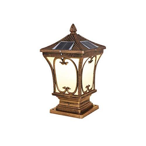 Wandstaal gazon blik op de binnenplaats Villa Outdoor vloerlamp huishouden palen kolom lichten brons metalen tuin lamp metaal 45 * 24 cm wandverlichting