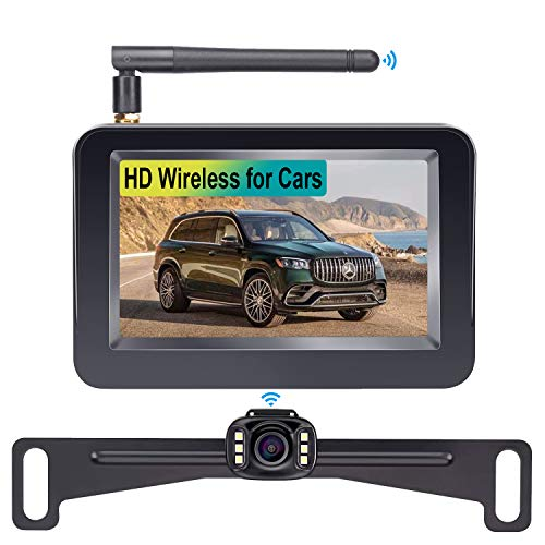 LeeKooLuu F08 HD Wireless Backup Camera and 4.3'' Monitor System for...