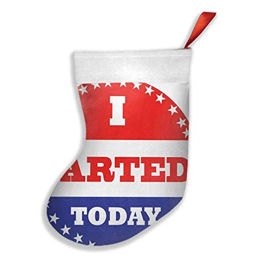 ~ Voting Stickers I Farted Today Christmas Stockings Xmas Party Decorations for Family Holiday Season Decor Santa Gifts Socks