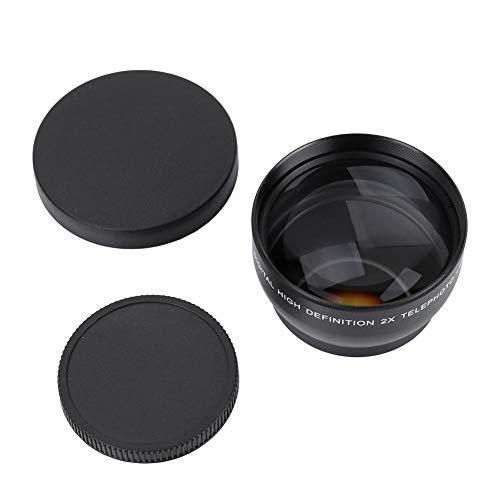 Converter-telelens, 52 mm 2-voudige vergroting HD-tel-camcorder-lenzen Past op elke lens met een diameter van 52 mm en een brandpuntsafstand van 18-55 mm.