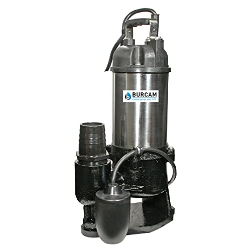 Bur-Cam 400401T 1/2 HP Contractor Series Stainless Steel Sewage Pump