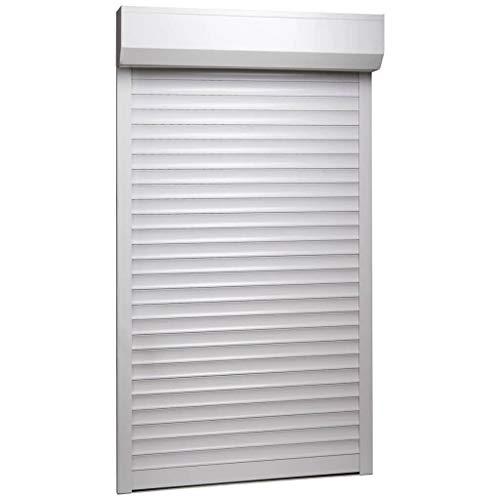 HUANGDANSP Persiana Enrollable Aluminio Blanca 100x210 cm Bricolaje Materiales de construcción Contraventanas