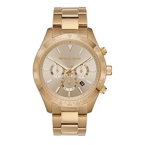 Michael Kors Men's Quartz Watch with Stainless Steel Strap, Gold, 22 (Model: MK8782)