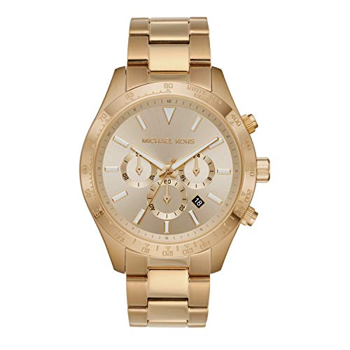 Michael Kors Men's Quartz Watch with Stainless Steel Strap, Gold, 22 (Model: MK8782)