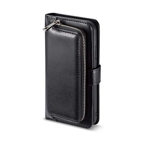 iPhone XS Max ケース 手帳型 ファスナー設計 鍵/おつり/コイン/カード収納 マグネット式 耐衝撃 Di_Case 専用パッケージ iPhoneXSMax レザーケース 6.5インチ 対応 スマホケース アイフォン エックスエース マックス