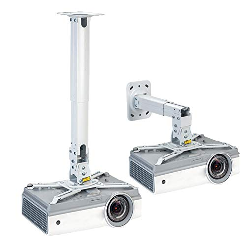 Projector Ceiling Mount,Multifunction Ceiling/Wall Bracket Holder with Adjustable Angle & Extending Arms for Different Size Projector