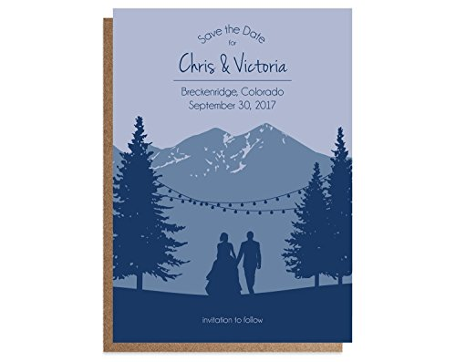 Elegant Mountain Wedding Save the Date Cards