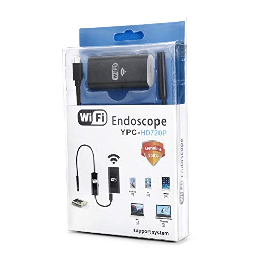 Borescope 8mm Telescoping Wifi-endoscoop Camera 720P HD Semi-Rigid Snake Camera USB endoscoop Borescope IOS endoscoop endoscoop QPLNTCQ (Color : Soft, Size : 10m)