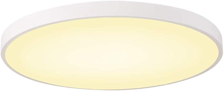 Deckenleuchte Runde Led Deckenleuchte 5 CM ultradünne Acryl Deckenleuchte Wohnzimmer Licht Schlafzimmer Licht Arbeitszimmer Ganglicht (Farbe   Weies warmes Licht-40CM 28W)