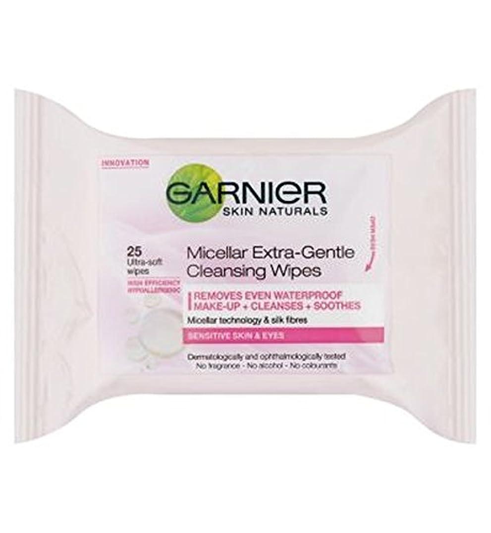 骨髄バラエティトランジスタGarnier Micellar Extra-Gentle Cleansing Wipes 25s - ガルニエミセルエクストラジェントルクレンジングは、25秒をワイプ (Garnier) [並行輸入品]