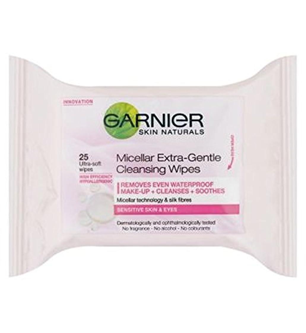 一時的夜間ビジュアルガルニエミセルエクストラジェントルクレンジングは、25秒をワイプ (Garnier) (x2) - Garnier Micellar Extra-Gentle Cleansing Wipes 25s (Pack of 2) [並行輸入品]