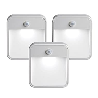 Mr. Beams MB 723  MB723 Battery-Powered Motion-Sensing LED Stick-Anywhere Nightlight, 3-Pack
