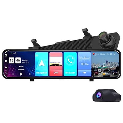 ABWIGS Coche De 12 Pulgadas Dvr Dashcam HD Mirror 4g + WiFi Android 8.1 Grabador De ConduccióN con Doble Lente GPS Adas NavegacióN Control De Voz