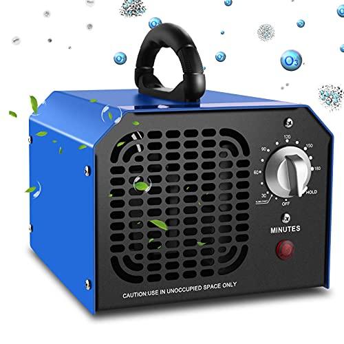 Ozongenerator Geruchsneutralisierer 6,000mg/std Ozon Luftreiniger Ionisator Geruchsentferner Ozone Generator Lufterfrischer für Auto, Wohnung, Haustier, Keller, 3Std Timer/HOLD