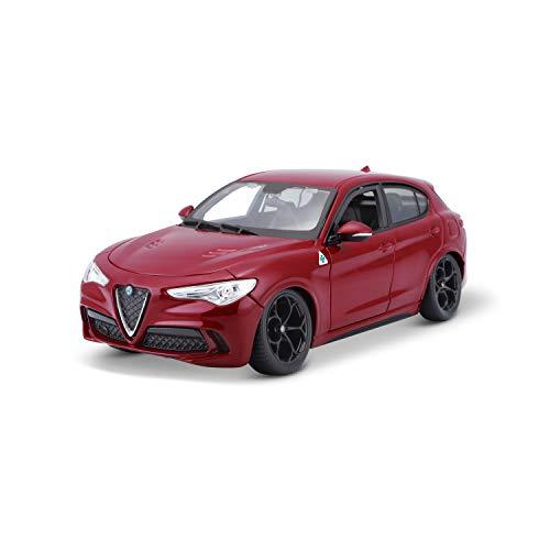Bauer Spielwaren- Alfa Romeo Stelvio Modelo de coche a escala 1:24, assorted (Bburago 15621086R)