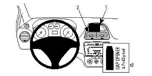Brodit ProClip 854450 Staffa per Auto ad Incastro