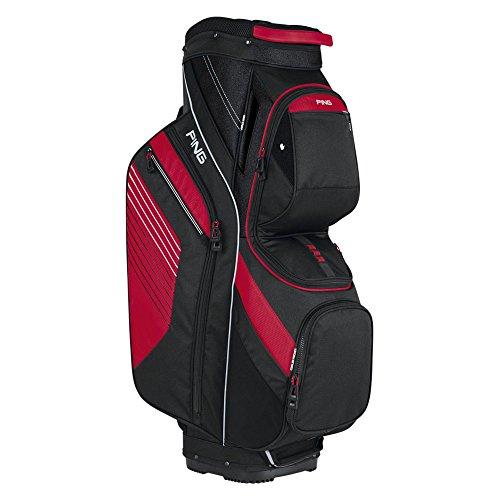 PING Golf Men's Traverse II Cart Bag, Black/Red