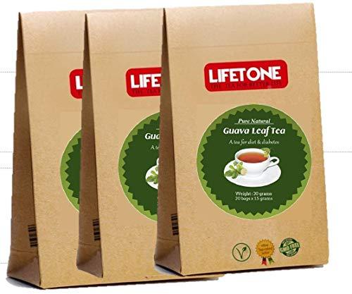 60 Teebeutel aus Guavenblättern | 100% Natur | Köstlicher Kräutertee | Diabetischer Tee | Packung mit 3 Stück