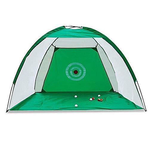 RASHION Red de golf plegable de 2 m para exterior/interior, para práctica de golf, para conducción, esquiar, de hierro (verde)