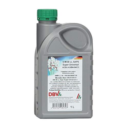 1 Liter DBV Motorenöl 5W-30 LL SAPS Super Universal