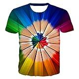 DREAMING-Camiseta Casual de impresión Digital en 3D, Jersey de Cuello Redondo y Manga Corta Suelta 3XL