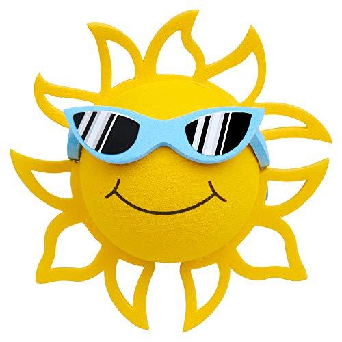 Coolballs California Sunshine w Sunglasses Car Antenna Topper/Rear View Mirror Dangler/Desktop Spring Stand Bobble (Blue Sunglasses)