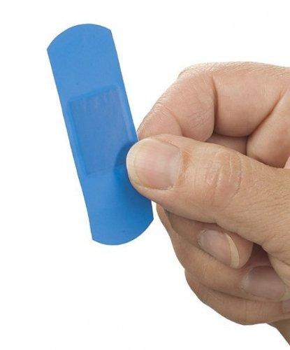 Medicalcorner24 Detectable Pflaster 72 x 25 mm Wundpflaster 50 Stück, detektiebare Pflaster für die Lebensmittelindustrie