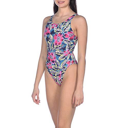 Arena Tropical Sketch Costume Sportivo, Donna, Multicolore, 36