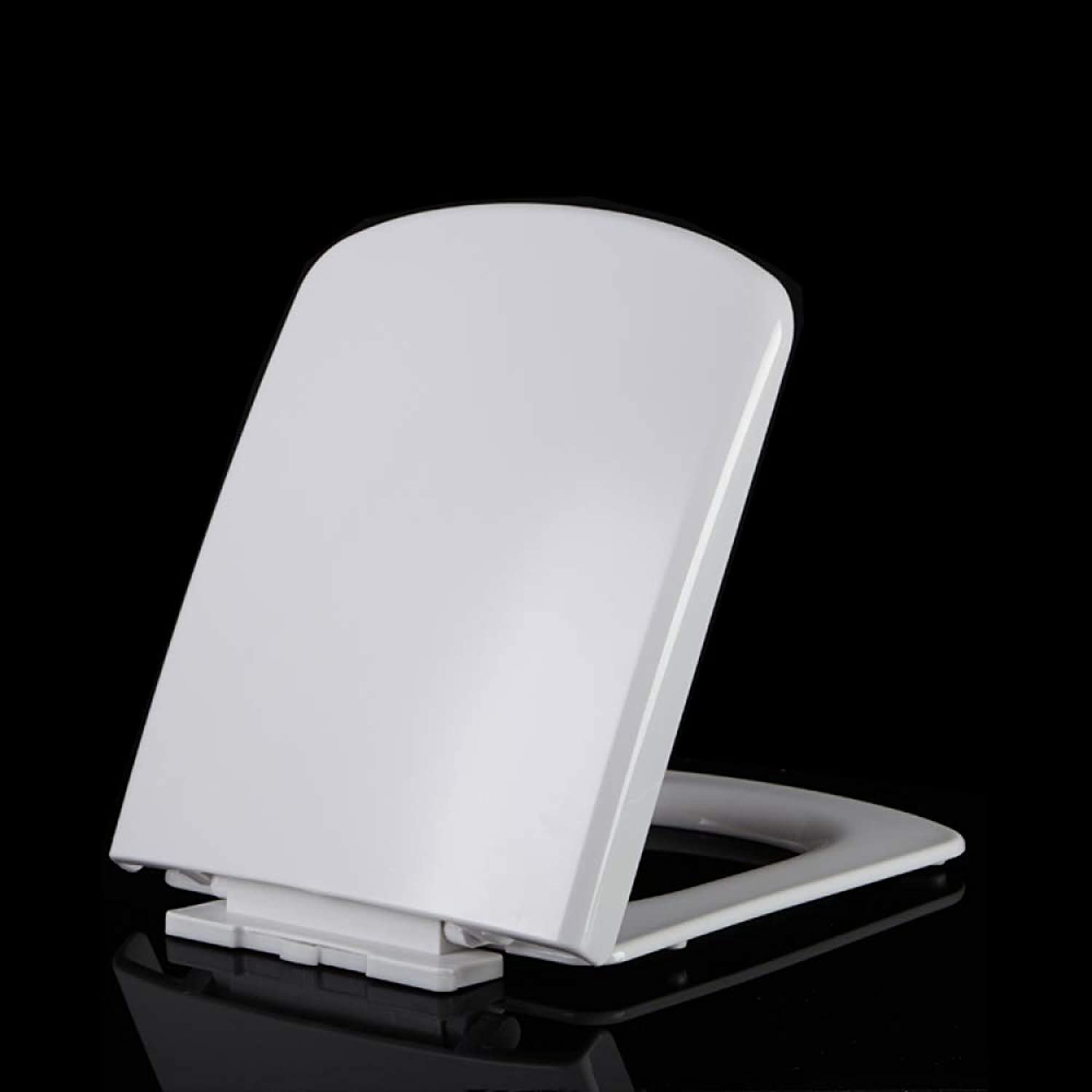 Lili Toilet Seat With Thickened Soft Close Release Hinges Top Mounted Ultra Resistant WC-seat For Square Toilet,White-4345.5  36