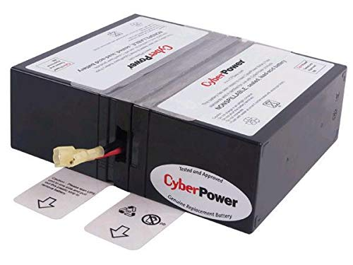 CyberPower RB1280X2A Replacement Battery Cartridge, Maintenance-Free, User Installable