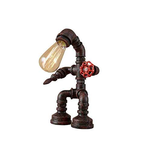 Europäische Retro-Stil kreative Persönlichkeit, Eisen, Wasser Rohre Industrie Tischlampe Study Cafe Bar Tischlampe [Effizienzklasse : A +] ( design : A )
