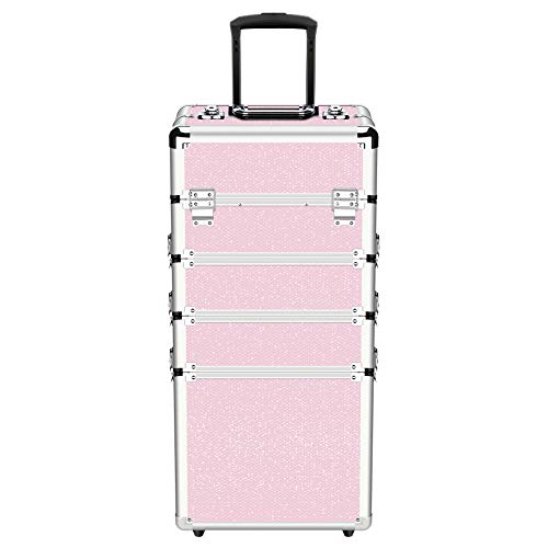 OUDMAY by Amazon - Makeup Case - 4 in 1 Professional Cosmetics Rolling...