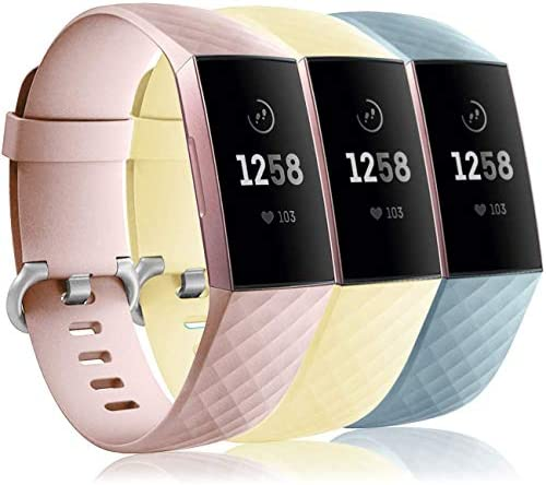 Wepro Waterproof Bands Compatible with Fitbit Charge 4 Charge 3 Charge 3 SE for Women Men 3 product image