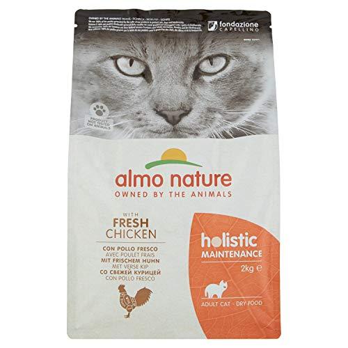 Almo Nature Holistic Maintenance Trockenfutter für Katzen mit frischem Huhn 2Kg