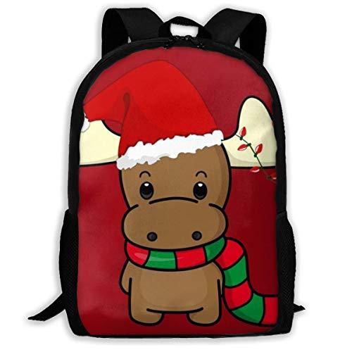 Bac Adulto Unisex de Alta Capacidad FGHJYkpack Christmas Cartoon Bookbag Travel Bag Mochilas Escolares Bolso para portátil