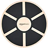 AmazonBasics Wood Wobble Balance Board - 16.2 x 16.2 x 3.6 Inches, Black