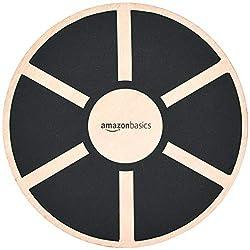 professional AmazonBasics Timber Vibration Balance Board – 16.2 x 16.2 x 3.6 inch – Black