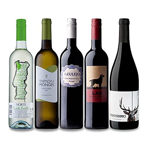 ポルトガルワインお試し5本セット(赤3本、ヴェルデ2本)