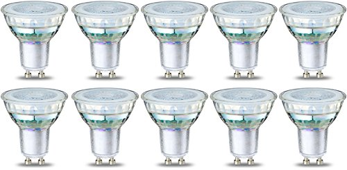 AmazonBasics – LED-Strahler-Leuchtmittel GU10, 4 W (entspricht 50 W), klarer Glühfaden, 10 Stück