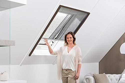 empasa Insektenschutz Fliegengitter Dachfenster Plissee 'Master' Alurahmen verschiedene Größen in weiß und braun als Selbstbausatz