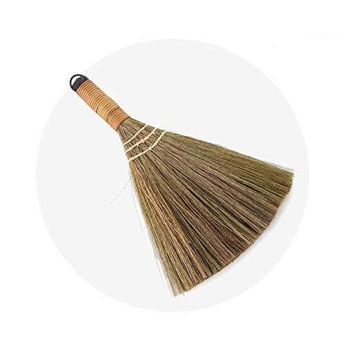DEI Escoba pequeña para el hogar Tradicional, Paja, bambú, ratán, miscanto, Trenzado,...