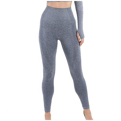NCTCITY Mujer Ropa de Yoga Traje Deportivo Seamless Camisa Delgada y Pantalones de Cintura Alta Gimnasio Medias + Tops Conjunto Jogging Chándales
