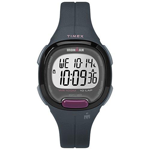 Timex Women's TW5M20000 Ironman Transit Mid-Size Gray/Purple Resin Strap Watch