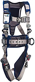 3M DBI-SALA 1112555 ExoFit STRATA, Aluminum Back/Front/Side D-Rings, Locking QC Buckles with Sewn in Hip Pad & Belt, Small, Blue/Gray