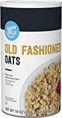 18 ounces of Happy Belly Old Fashioned Oats Whole Grain Rolled Oats Low in saturated fat and 0 mg cholesterol If you like Quaker Old Fashioned Oats, we invite you try Happy Belly Old Fashioned Oats Satisfaction Guarantee: We're proud of our products....