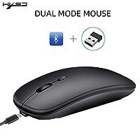 ラップトップ/for IMac/IpadのBluetoothマウス/ラップトップ/ノートブック/Pcのワイヤレスマウス(Bluetoothマウス/ブラック)