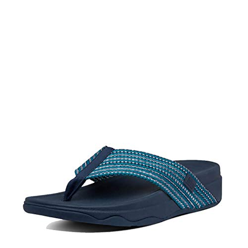 FitFlop Womens Surfa Sandals, Sea Blue, 9
