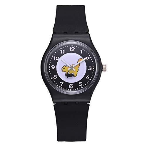 Linda Patrón Clásico Reloj De Pulsera De Pulsera Silicona Reloj Redondo De Moda para Cualquier Persona