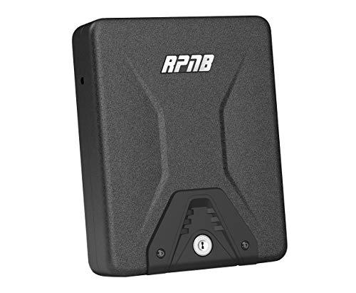 RPNB Gun Safe, Security Safe Lock Box, Portable Safe, Handgun Safe, Key Lock Box, 1 Year Warranty
